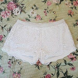 Crochet Lace Design Shorts